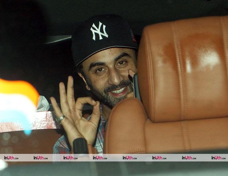 Ranbir Kapoor spotted at Bareilly Ki Barfi screening