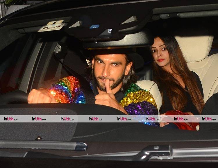 Ranveer Singh reaching Ritesh Sidhwani's birthday party