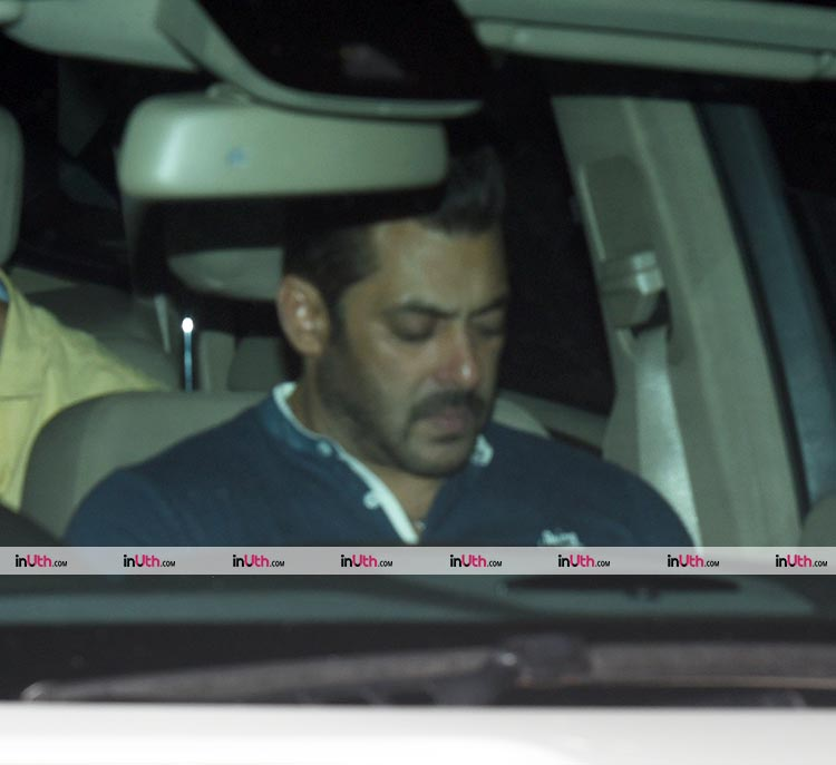 Salman Khan spotted outside Arpita Khan's house