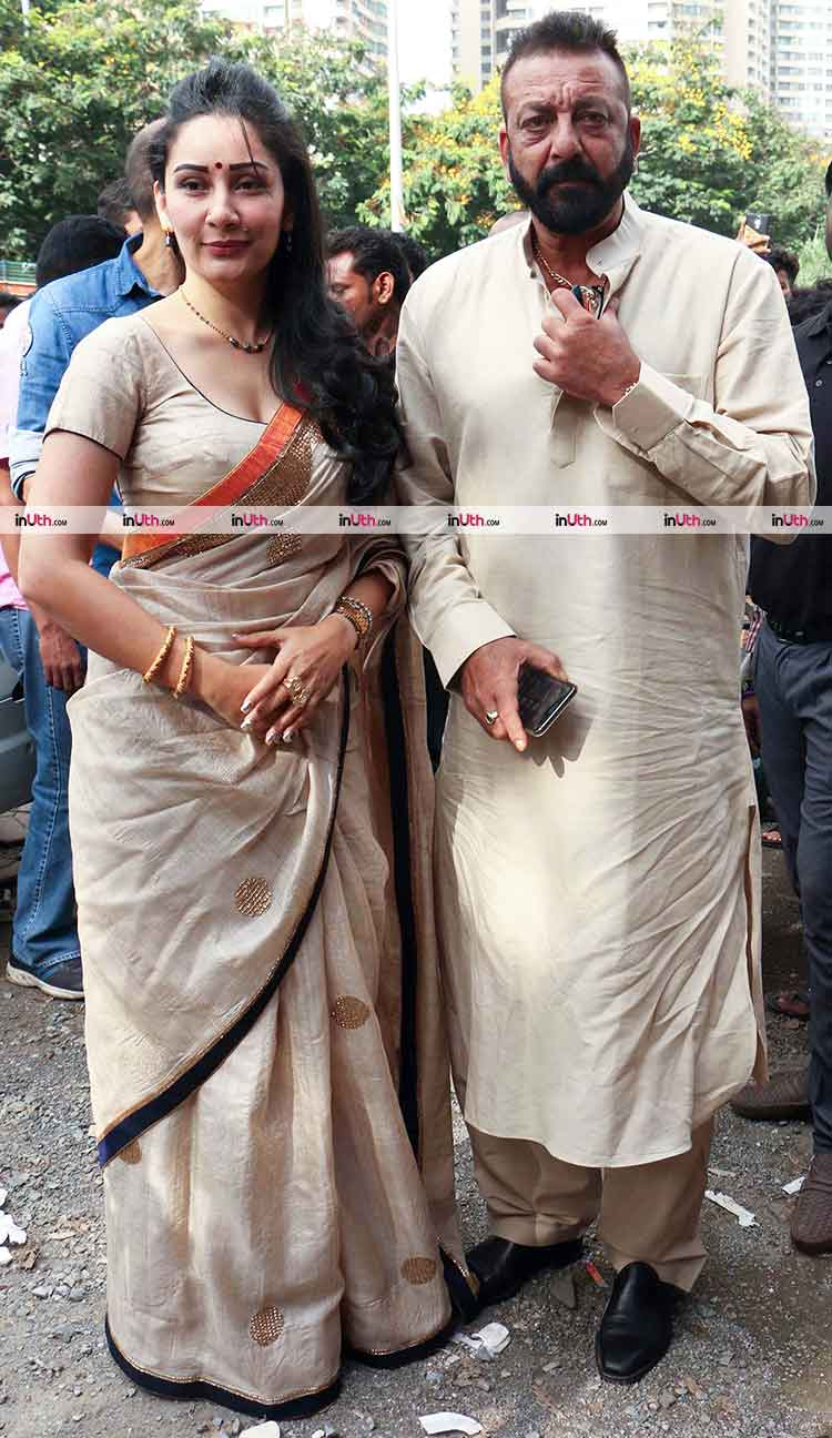 Ganesh Chaturthi: Sanjay Dutt performs Ganesh Aarti with ...