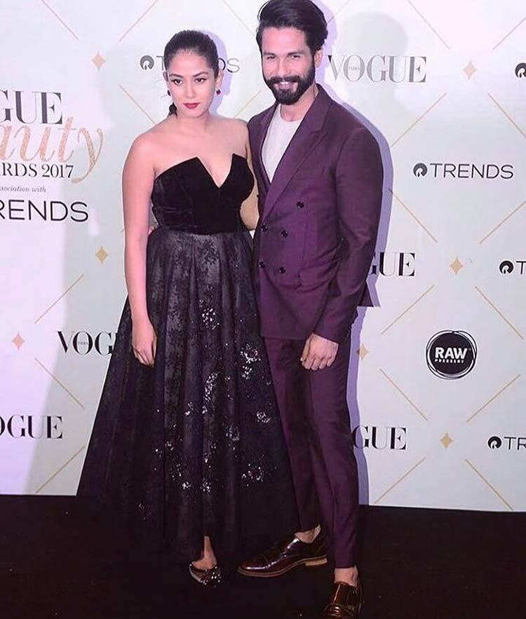 Shahid Kapoor and Mira Rajput at the Vogue Beauty Awards 2017