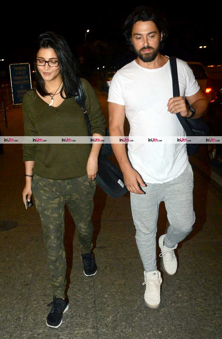 Shruti Haasan spotted with rumoured boyfriend at airport last night