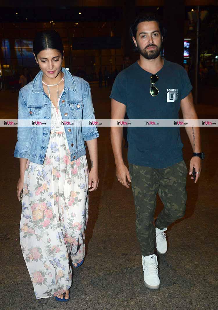 Shruti Haasan with alleged boyfriend Michael Corsale