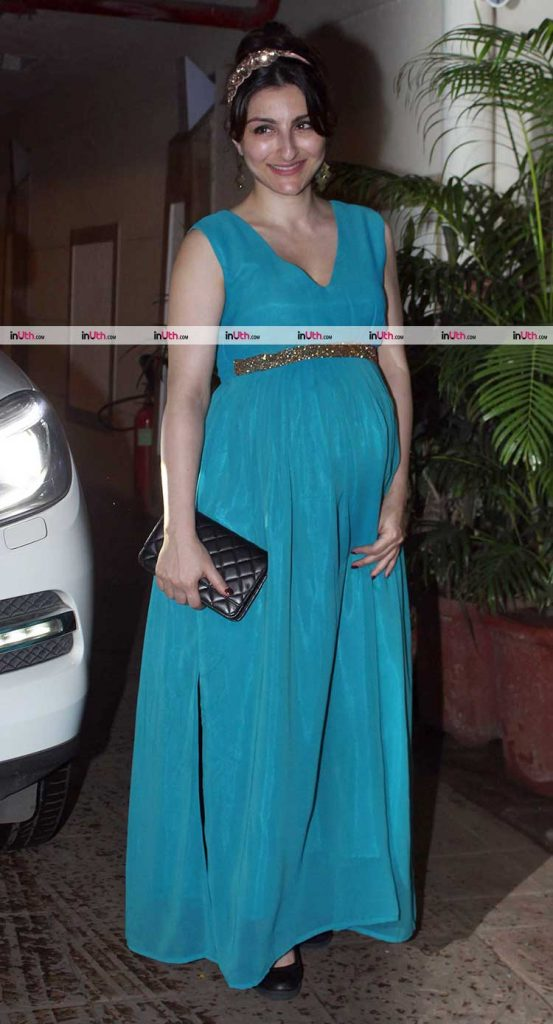 Soha Ali Khan all decked up for Saif Ali Khan's birthday party