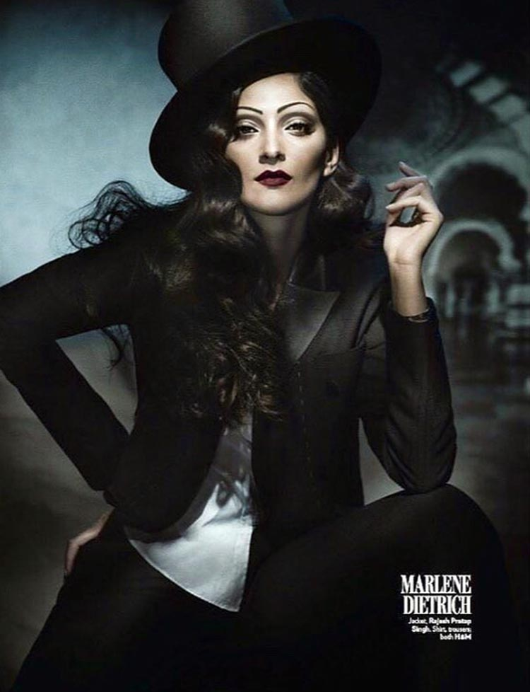 Sonam Kapoor emulates Marlene Dietrich in her latest photoshoot