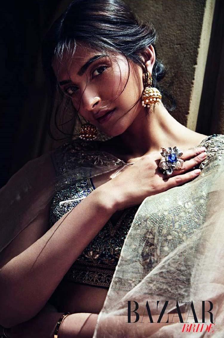 Sonam Kapoor sizzling the Harper's Bazaar Bride cover