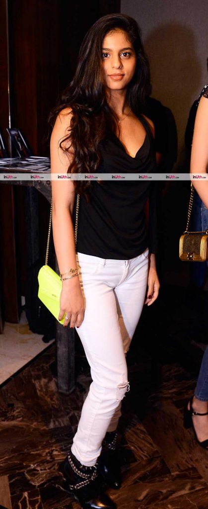 Suhana Khan clicked at Ahaan Panday's party