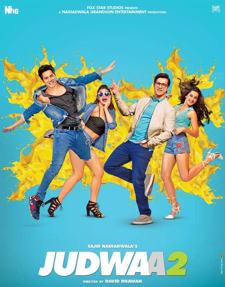 The latest poster of Judwaa 2 will prompt you to pre book your tickets