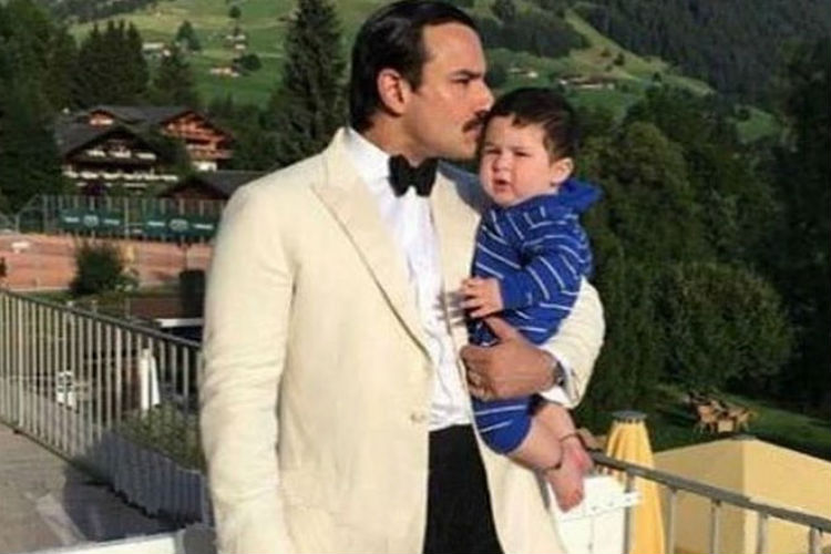 Saif Ali Khan and Taimur Ali Khan