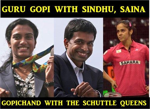 Pullela Gopichand Saina Nehwal PV Sindhu