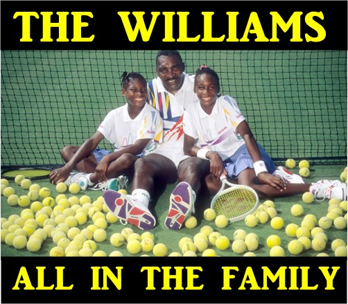 William sisters with their father