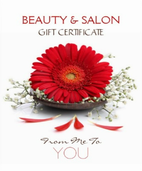 Beauty Salon Gift card