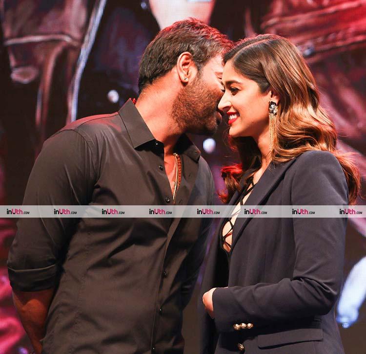 Ajay Devgn and Ileana D'Cruz at Baadshaho trailer launch