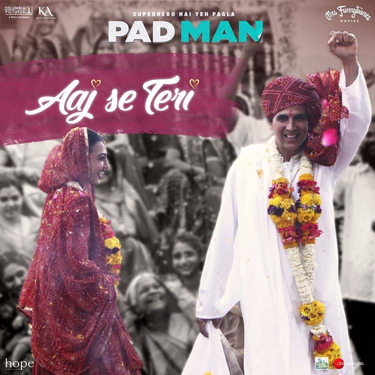 Akshay Kumar and Radhika Apte in PadMan song Aaj Se Teri