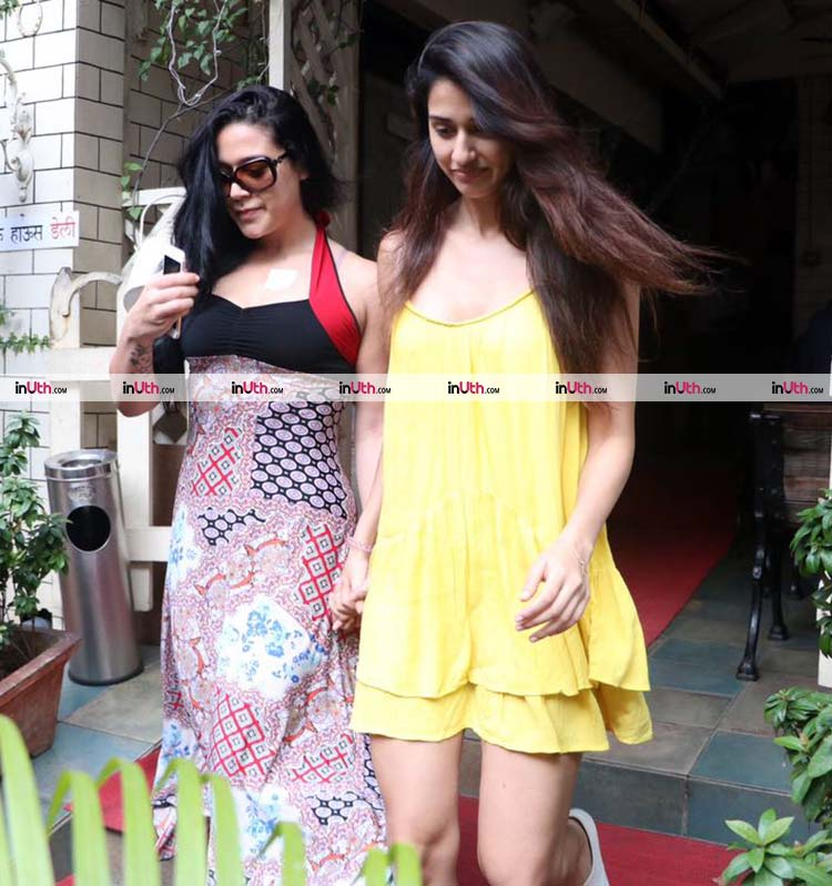 Disha Patani spotted with Tiger Shroff's sister Krishna Shroff