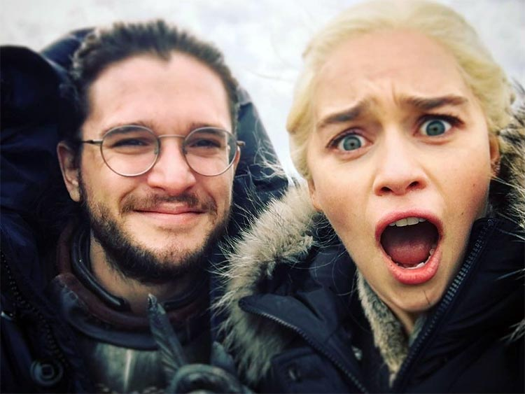 Emilia Clarke and Kit Harington's goofy off screen chemistry