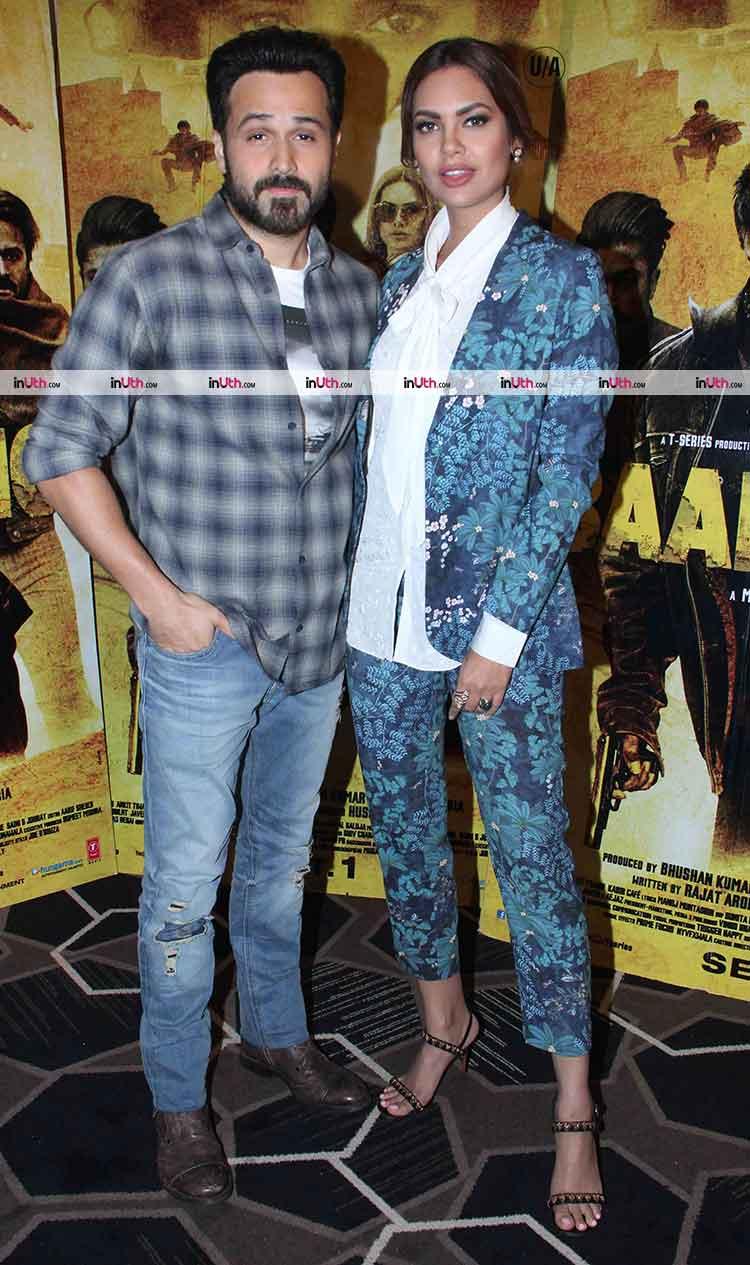 Emraan Hashmi and Esha Gupta at Baadshaho promotions