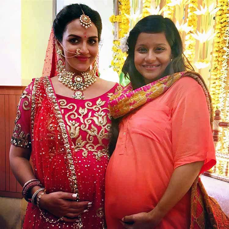 Esha Deol's best friend Shilarna Vaze at her baby shower