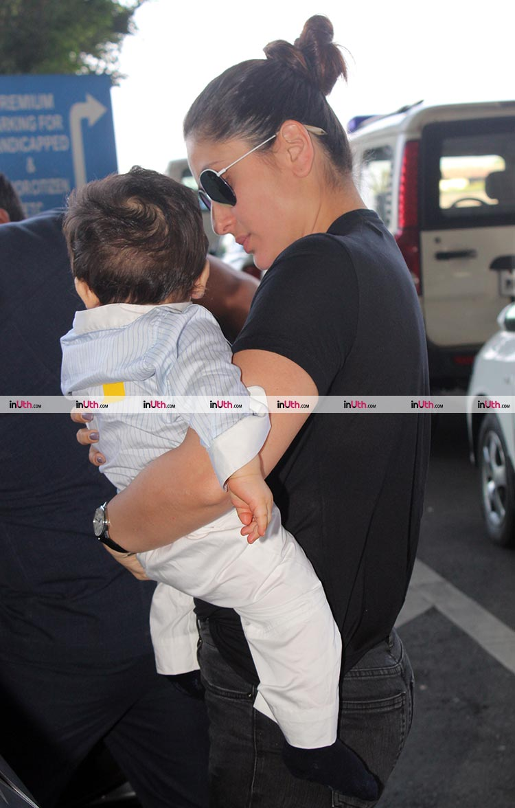 Kareena Kapoor and Taimur have returned to Delhi for Veere Di Wedding