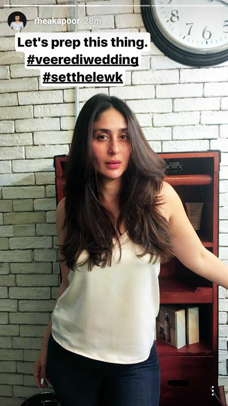 Kareena Kapoor prepping up for Veere Di Wedding