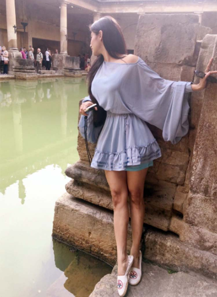 Mouni Roy at Roman Baths in Bath