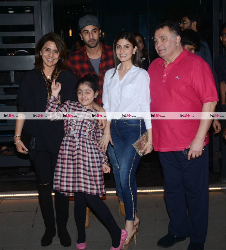 Ranbir Kapoor snapped after a family dinner on January 10