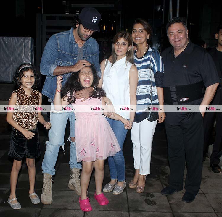 Ranbir Kapoor teasing his niece Samara