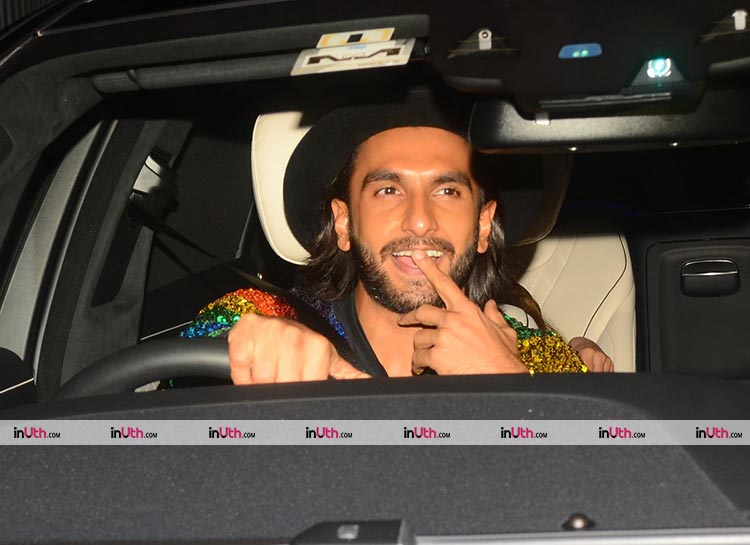Ranveer Singh snapped at Ritesh Sidhwani's birthday party