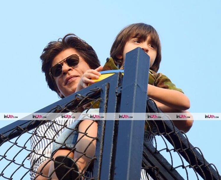 Shah Rukh Khan and AbRam clicked on the former's birthday