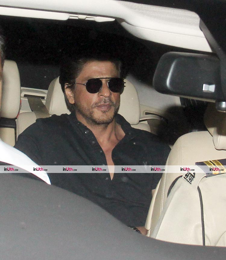 Shah Rukh Khan snapped outside Dilip Kumar's house on February 12, 2018