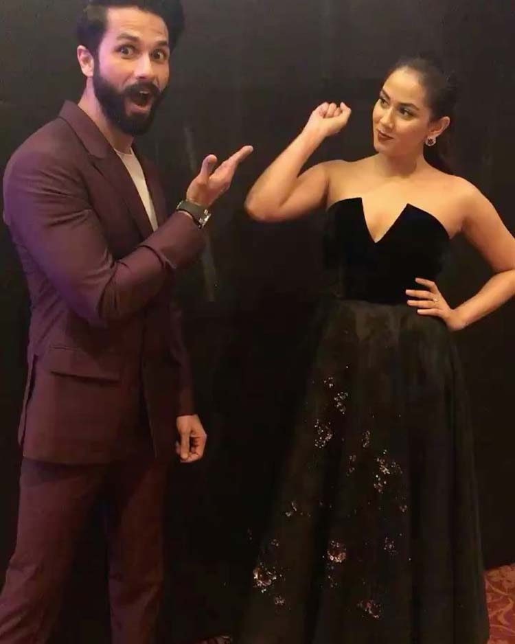 Shahid Kapoor and Mira Rajput being their adorable-selves at Vogue Beauty Awards