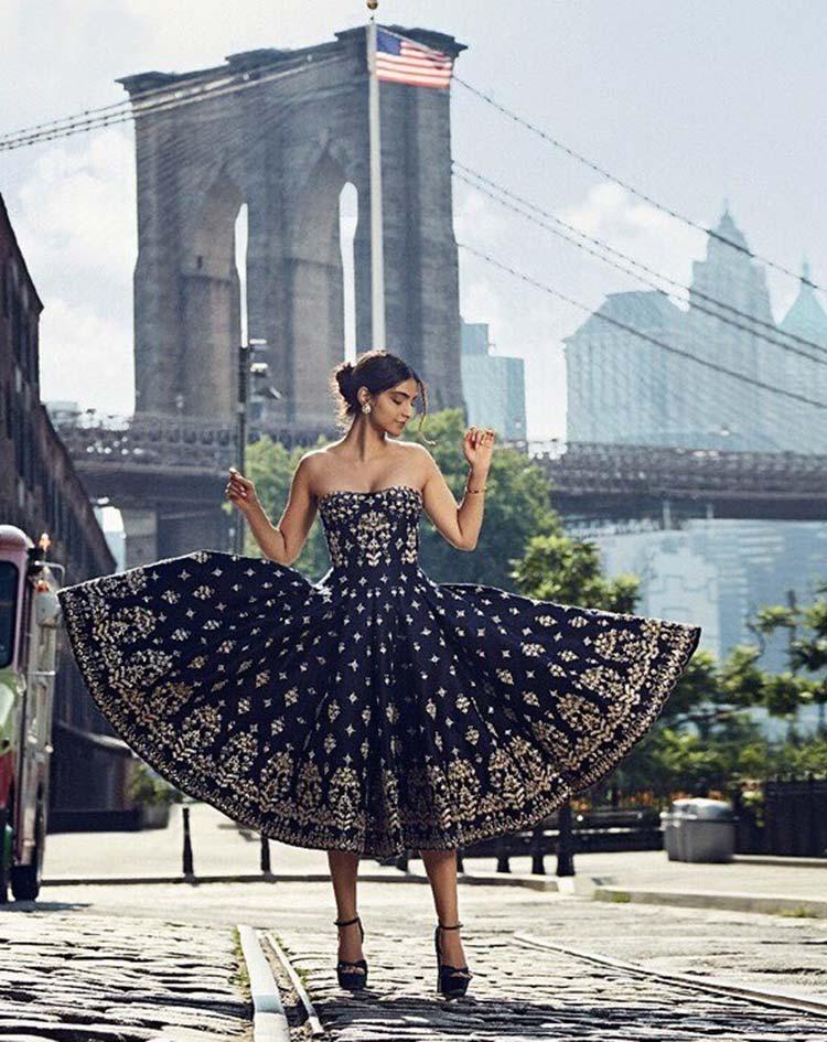Sonam Kapoor sizzling the Harper's Bazaar Bride magazine