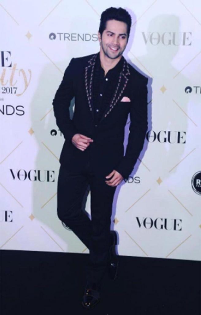 Varun Dhawan at the Vogue Beauty Awards 2017