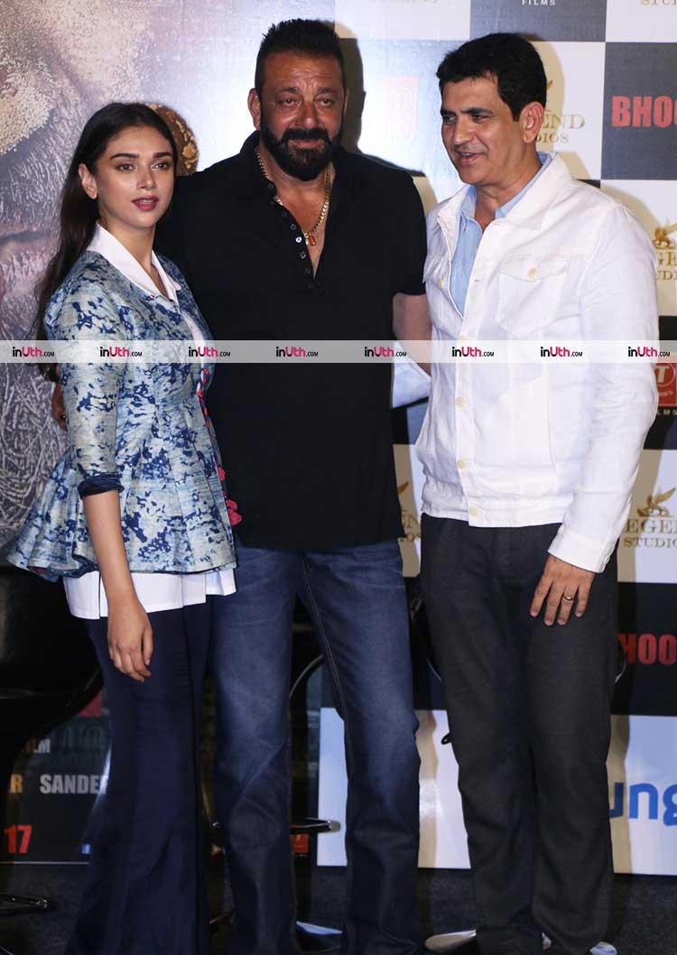 Aditi Rao Hydari, Sanjay Dutt, Omung Kumar at Bhoomi trailer launch