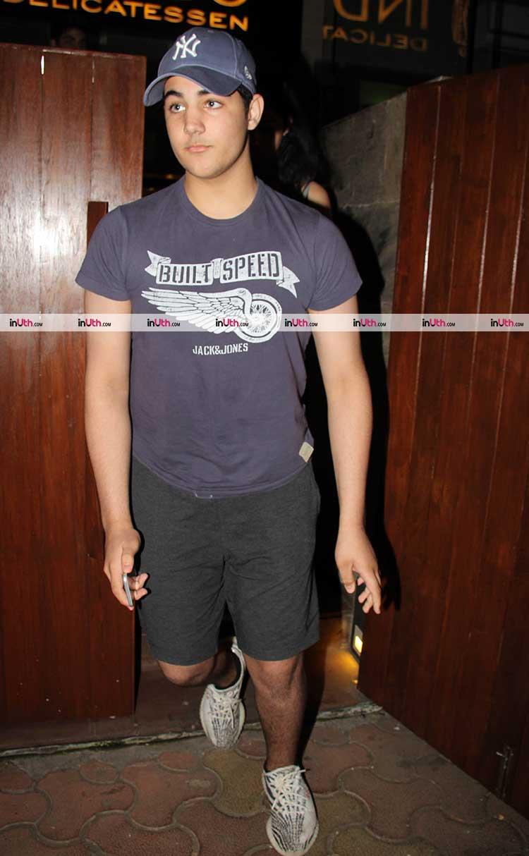 Akshay Kumar's son Aarav Bhatia clicked in Mumbai on Thursday night