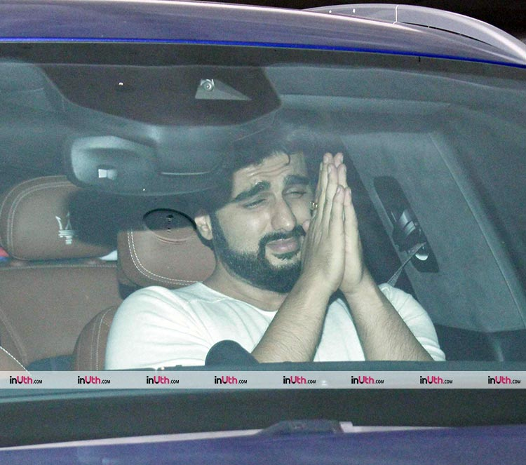 Arjun Kapoor looks too cute in this photo from his visit to Karan Johar