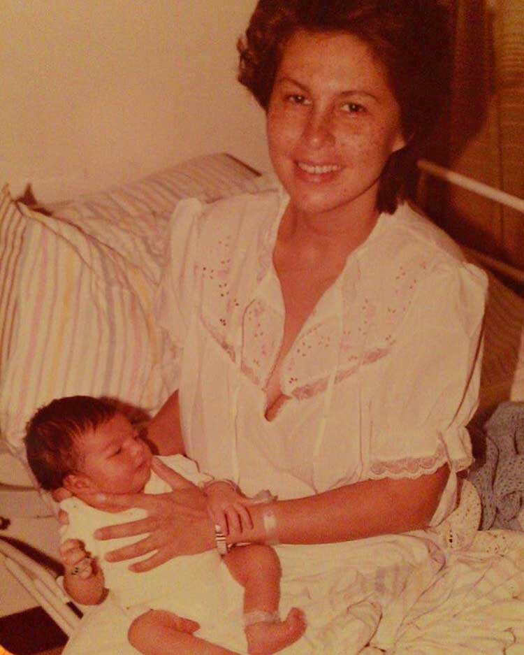 Baby Jacqueline Fernandez with her mother