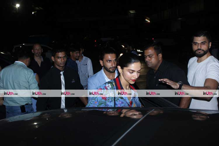 Deepika Padukone and Ranveer Singh spotted together