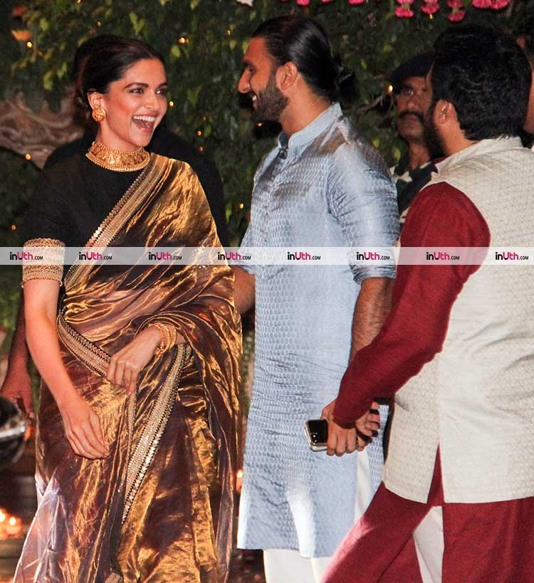 Deepika Padukone with beau Ranveer Singh at Ambani's Ganesh Utsav party