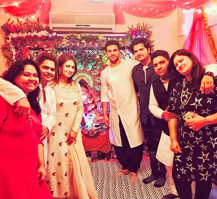 Divyanka Tripathi and Vivek Dahiya celebrating Ganesh Utsav