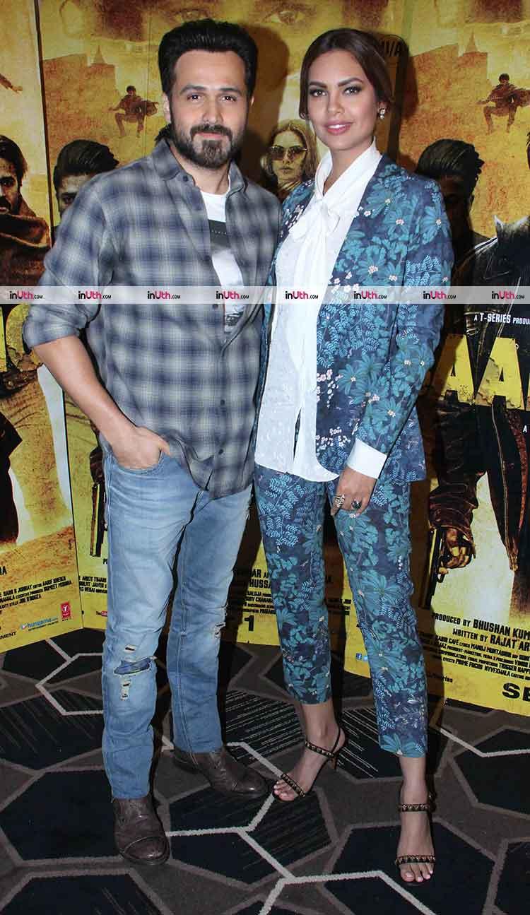 Emraan Hashmi with Esha Gupta at Baadshaho promotions