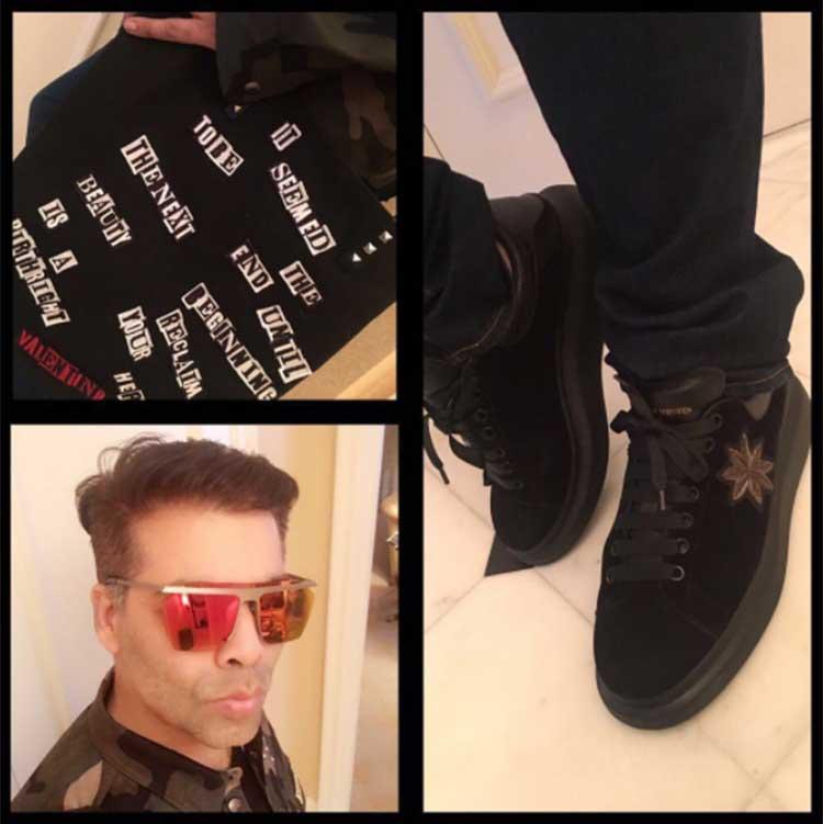 Karan Johar's Alexander McQueen shoes are superb