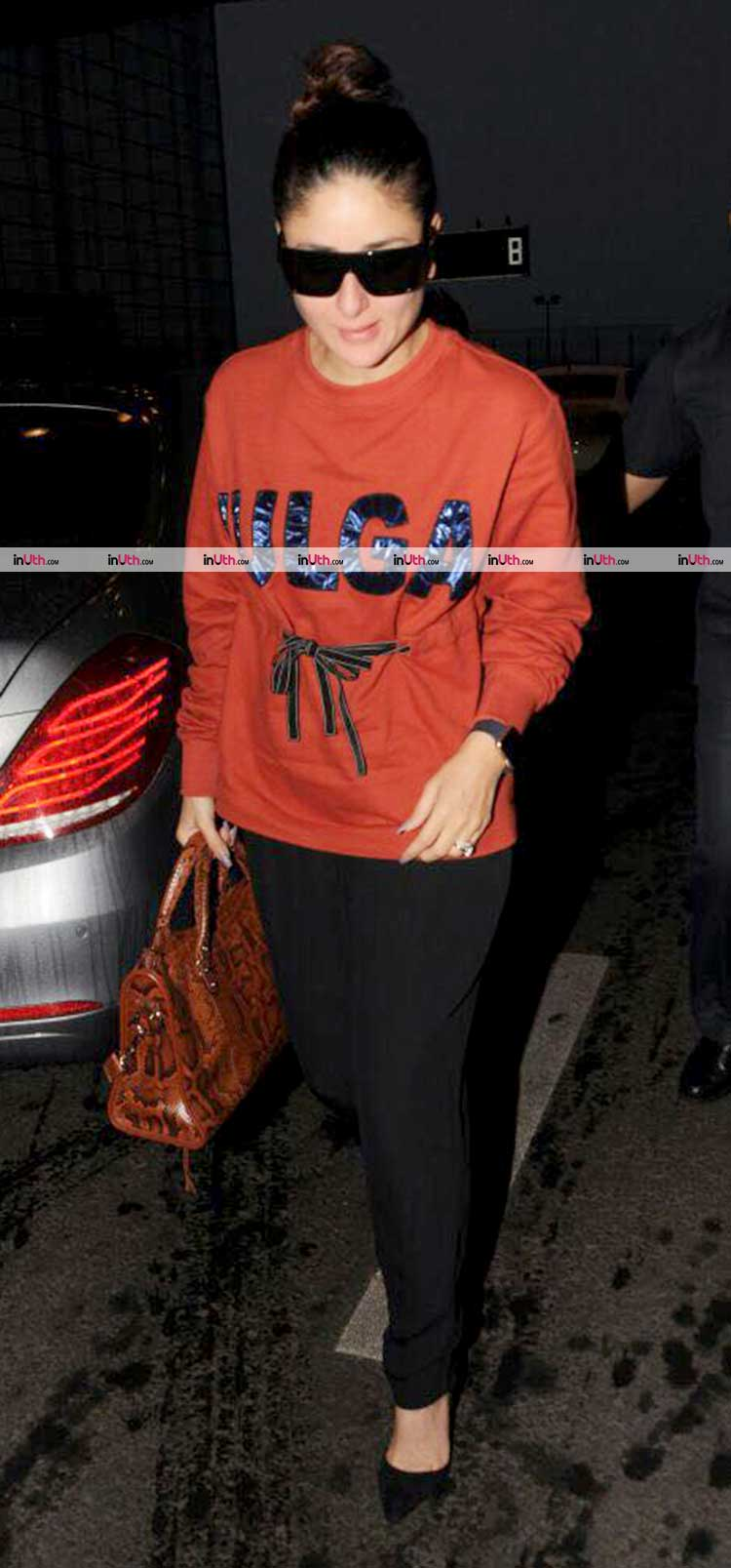 Kareena Kapoor spotted on the airport leaving for Veere Di Wedding