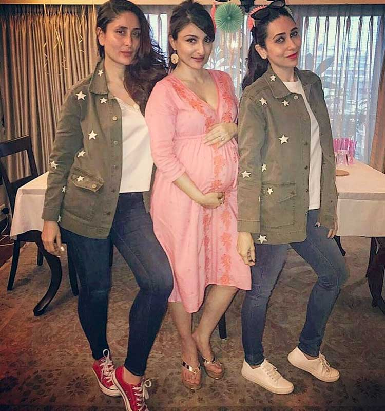 Mother-to-be Soha Ali Khan with Kareena and Karisma Kapoor