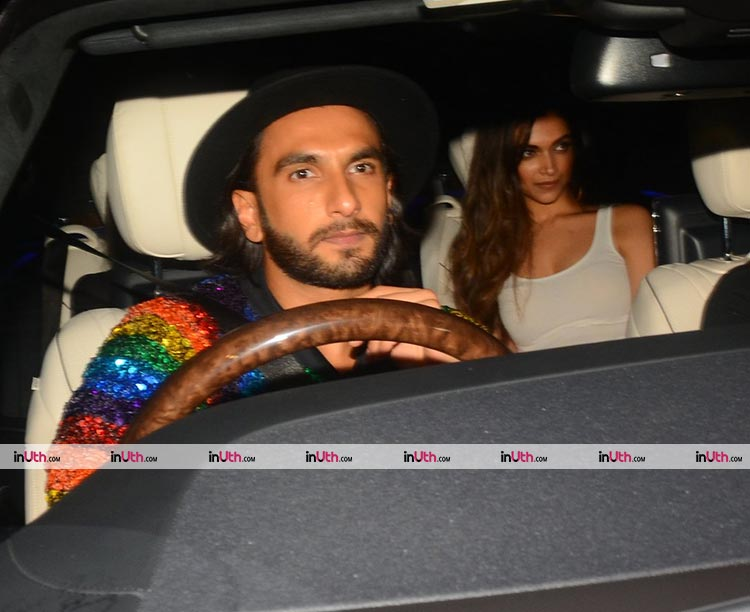 Ranveer Singh and Deepika Padukone reach Ritesh Sidhwani's birthday party