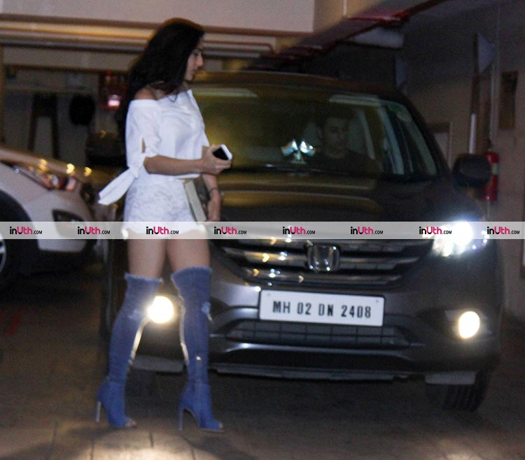 Sara Ali Khan arriving at Saif Ali Khan's birthday party