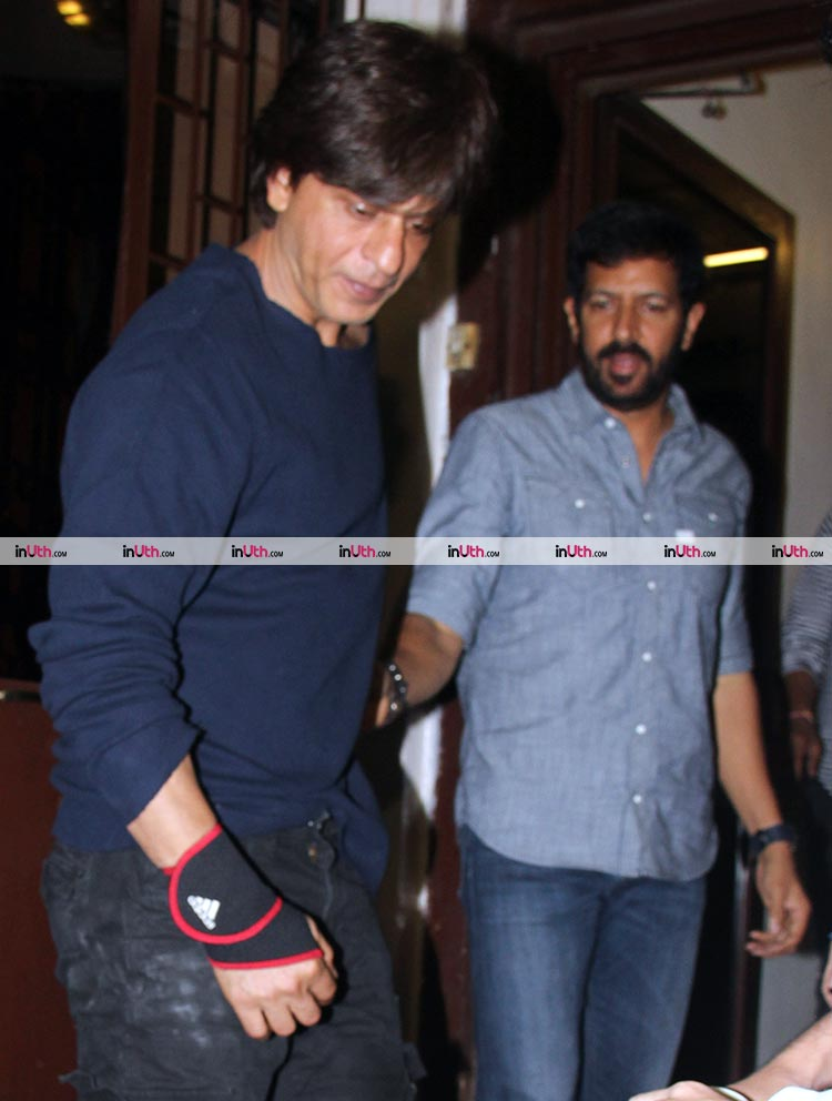 Shah Rukh and Kabir Khan spotted together