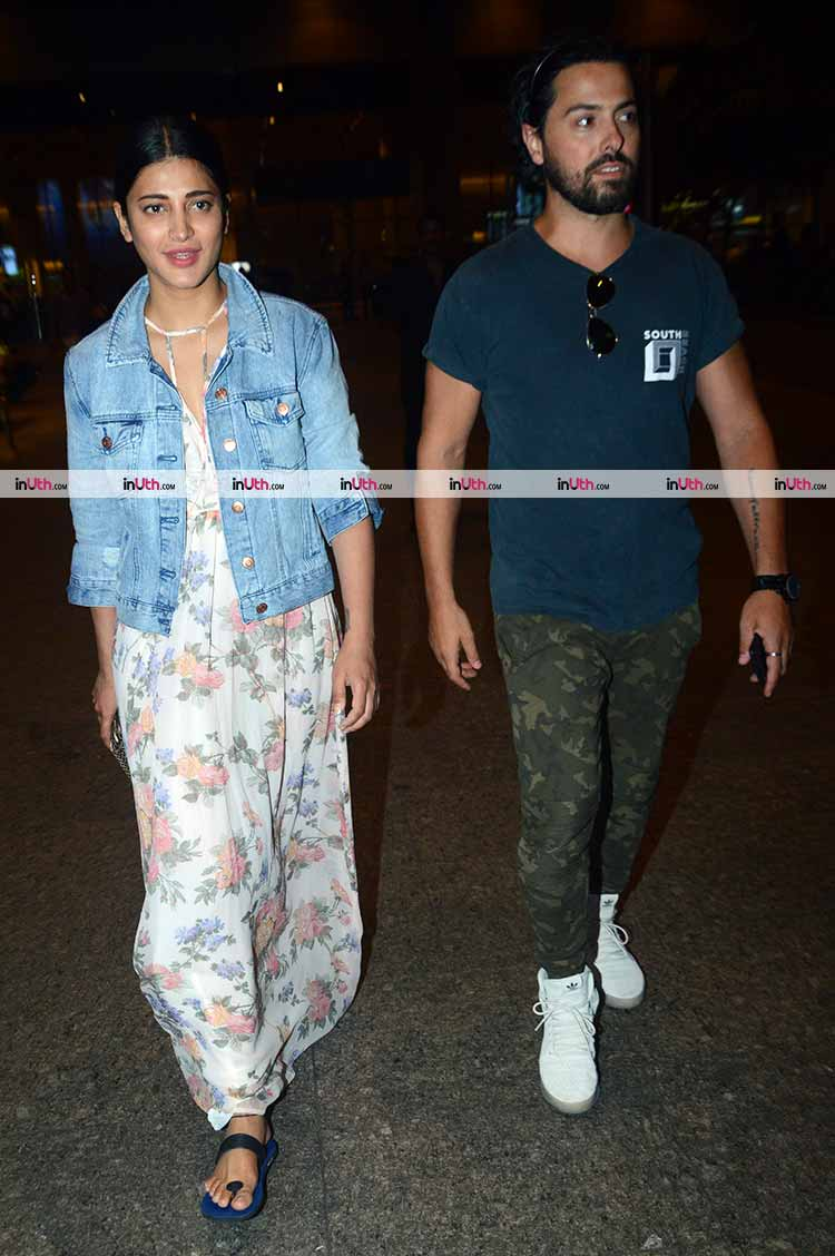 Shruti Haasan and alleged boyfriend snapped together