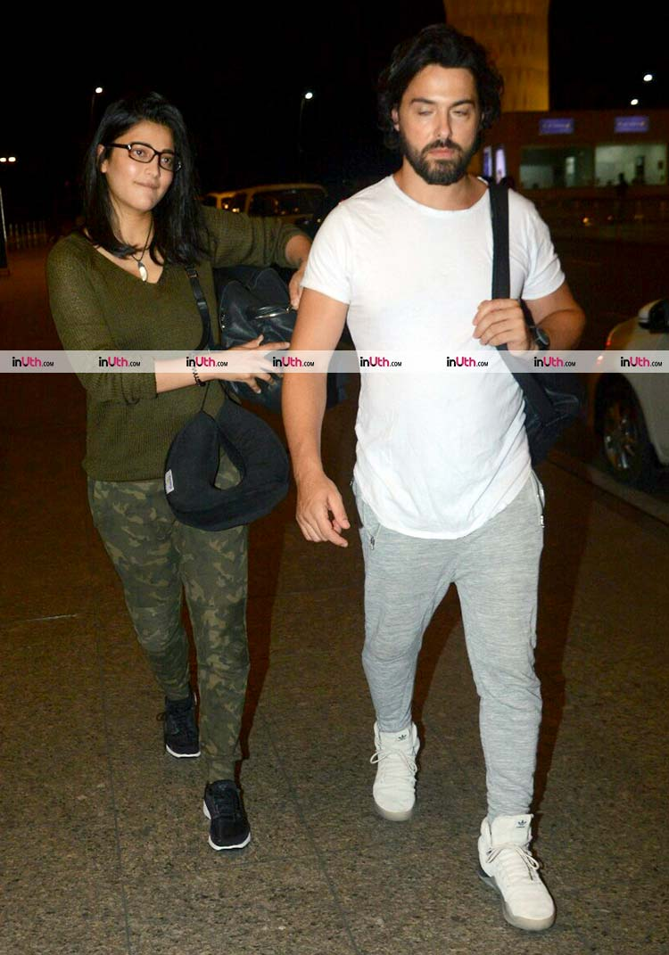 Shruti Haasan and rumoured boyfriend Michael Corsale spotted together