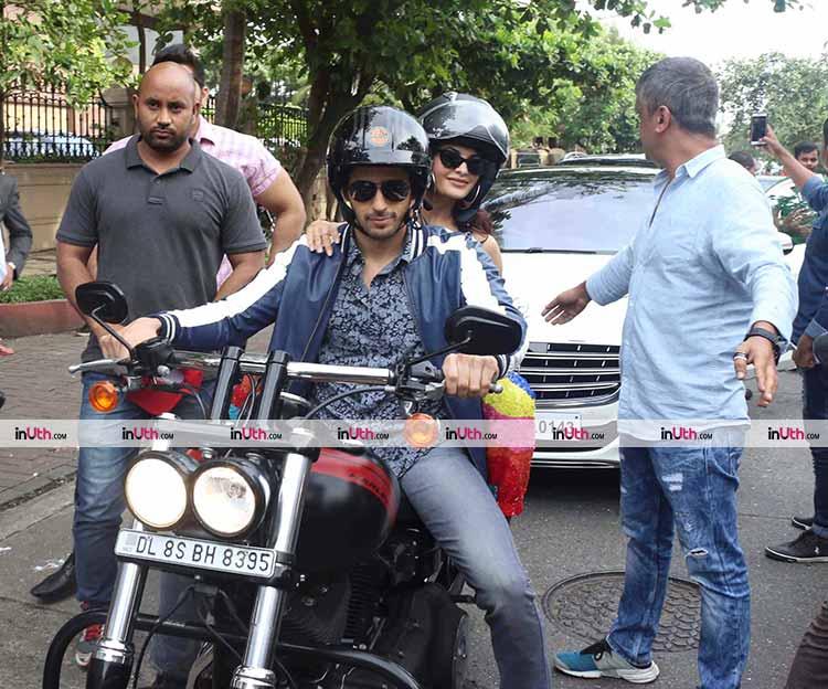 Sidharth Malhotra takes A Gentleman co-star Jacqueline Fernandez on a bike ride